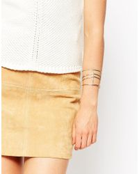 ASOS - Metallic Sleek Caged Open Cuff Bracelet - Lyst