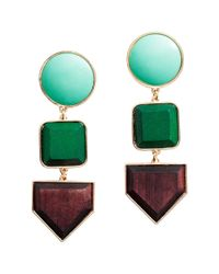 H&M | Green Long Earrings | Lyst