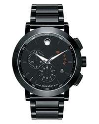 Movado - Black 'museum' Chronograph Bracelet Watch for Men - Lyst