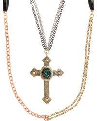 Gabriele Frantzen - Red Cross Grasse Silver Necklace - Lyst