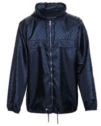 Gucci | Blue Monogrammed Windbreaker for Men | Lyst