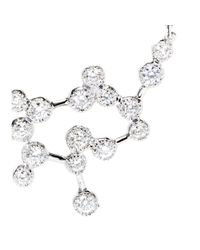 Stone - Metallic Love Is In The Air 18kt White Gold Necklace With Diamonds - Lyst