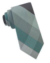 William Rast | Green Clifford Plaid Silk Tie for Men | Lyst