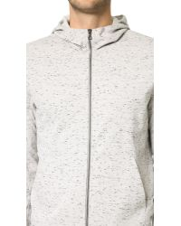 VINCE | Gray Zip Hoodie for Men | Lyst