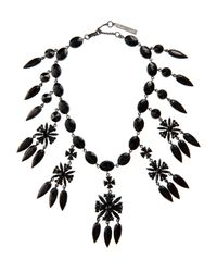Givenchy | Black Victorian Crystal-embellished Necklace | Lyst