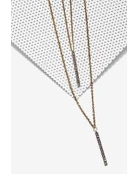 Nasty Gal - Metallic Aida Chain Necklace - Lyst