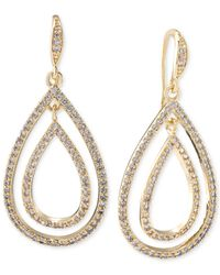 Carolee | Metallic Gold-tone Double Teardrop Earrings | Lyst