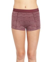 RVCA - Purple 'no Pressure' Printed Boyshorts - Lyst