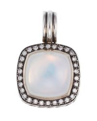 David Yurman | Metallic Pre-Owned 6.9 Dwt Sterling Silver Moonstone & Diamond Pendant | Lyst