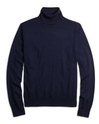 Brooks Brothers | Blue Saxxon Wool Turtleneck Sweater for Men | Lyst