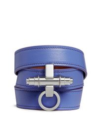 Givenchy | Purple 'Obsedia' Triple Wrap Leather Bracelet | Lyst