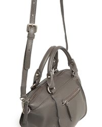 Mango - Gray Pebbled Cross-Body Bag - Lyst