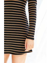 BDG | Black Kaylyn Ribbed Turtleneck Dress | Lyst