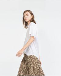 Zara | White Basic T-shirt | Lyst