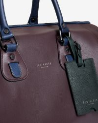 Ted Baker - Purple Leather Holdall for Men - Lyst