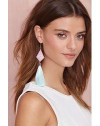 Nasty Gal - Green Suzywan Deluxe Asandra Tassel Earrings - Lyst