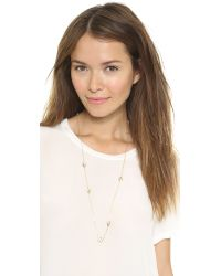 McQ - Metallic Asymmetric Swallow Necklace Shiny Gold - Lyst
