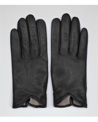 Reiss | Black Inca Leather Driving Gloves | Lyst
