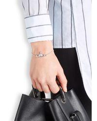 Vivienne Westwood - Metallic Mini Bas Relief Crystal Orb Bracelet - Lyst