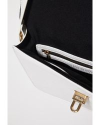 Forever 21 - White Faux Leather Mini Satchel - Lyst