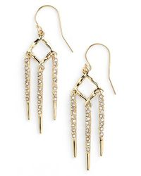 Alexis Bittar | Metallic 'diamond Shard' Drop Earrings | Lyst