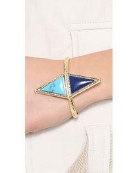 House of Harlow 1960 - Blue Isosceles Reflection Cuff Bracelet Lapisturquoise - Lyst