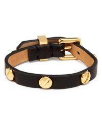 Marc By Marc Jacobs - Black Screw Leather Bracelet - Lyst