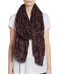 Missoni | Black Graphic Print Scarf | Lyst