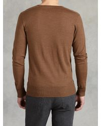 John Varvatos | Natural Superfine Merino Wool Sweater for Men | Lyst