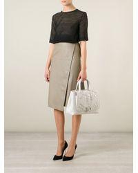 Paula Cademartori - White Dahlia Studded Calf-Leather Tote - Lyst