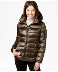 Calvin Klein | Green Quilted Down Puffer Coat | Lyst