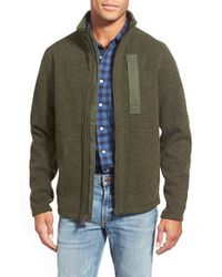 Timberland | Green 'branch' Zip Front Fleece for Men | Lyst
