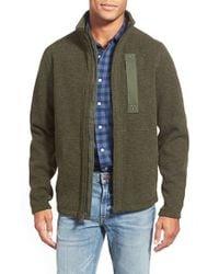 Timberland - Green 'branch' Zip Front Fleece for Men - Lyst