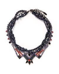 Joomi Lim - Multicolor ''rebel Romance' Crystal Pearl Collar Necklace - Lyst