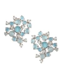 Paul Morelli | Blue Aquamarine & White Diamond Bubble Cluster Earrings | Lyst