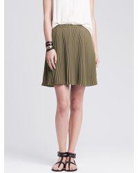 Banana Republic | Green Soft Pleated Skirt | Lyst