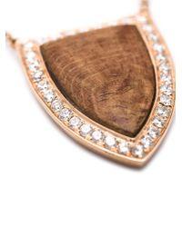 Anita Ko | Pink Large Wood Pendant Necklace | Lyst