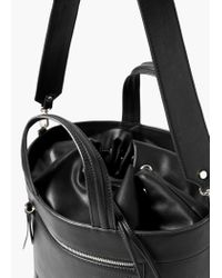 Mango | Black Big Tote Bag | Lyst