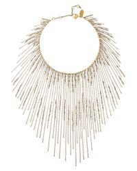 Erickson Beamon | Metallic Ballroom Dancing Gold-Plated Swarovski Crystal Necklace | Lyst