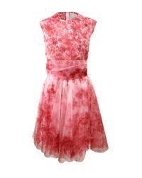 Giambattista Valli - Red Floral Tulle Dress - Lyst