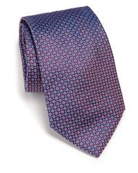 Ike Behar | Purple Neat Textured Silk Tie for Men | Lyst