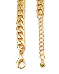Forever 21 - Metallic Long Rolo Chain Necklace - Lyst