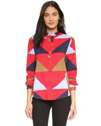 Mara Hoffman - Multicolor Triad Blouse - Triad Red - Lyst
