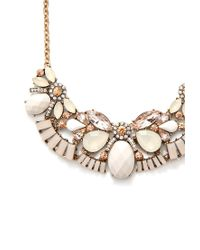 Forever 21 - Natural Ornate Faux Stone Bib Necklace - Lyst
