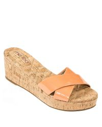 Me Too | Orange Nila Wedge Sandals | Lyst