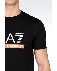 EA7 | Black Short Sleeved T-shirt for Men | Lyst
