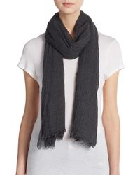 Steve Madden | Gray Solid Plush Scarf | Lyst
