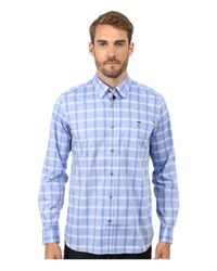 Ted Baker | Blue Thepane Long Sleeve Check Shirt for Men | Lyst