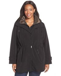 Gallery | Black Silk Look Anorak | Lyst