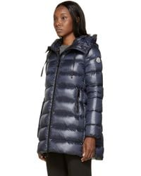 Moncler | Blue Navy Lightweight Down Suyen Coat | Lyst
